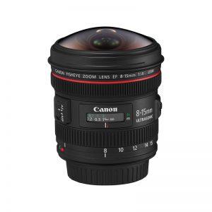 لنز کانن مدل EF 8-15mm f/4L USM Fisheye