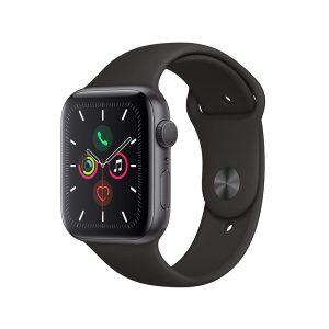 ساعت هوشمند اپل واچ سری 5 مدل 40mm Aluminum Case With Black Sport Band