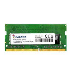 رم لپ تاپ ای دیتا CL17 DDR4 2400MHz ظرفیت 4 گیگابایت